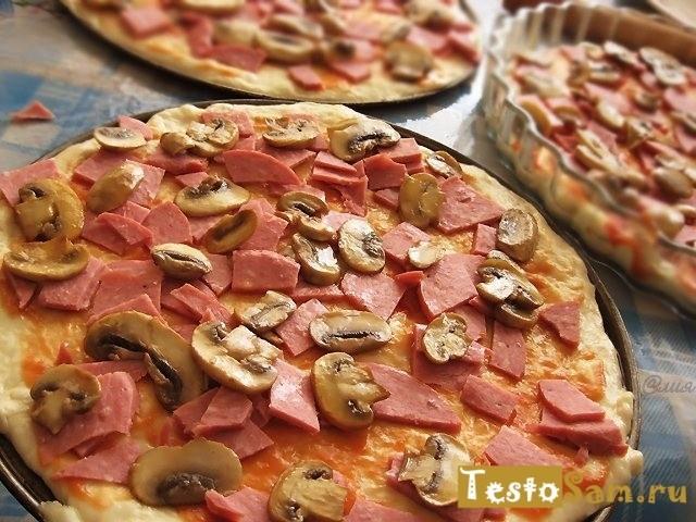 Рецепт приготовления быстрого и простого теста для пиццы