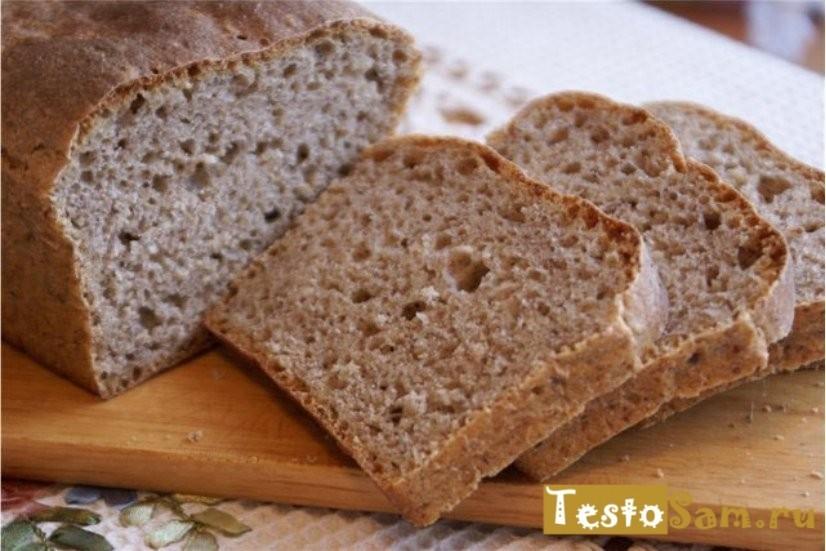 Хлеб из ржаной муки в домашних условиях без дрожжей 68