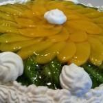 Рецепт приготовления бисквитного торта со сливками у фруктами