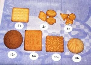 Примерный вес печенья по виду