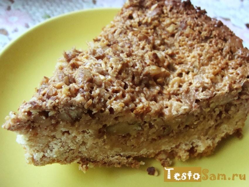 Рецепт пирога из овсяных хлопьев