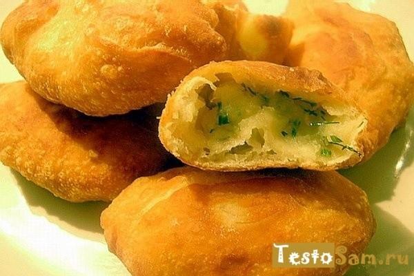 Рецепт дрожжевых пирожков с картошкой и укропом