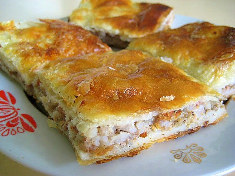 Пирог из слоеное тесто с фаршем рецепты с