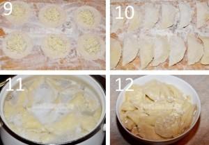 Начинаме лепить вареники с адыгейским сыром