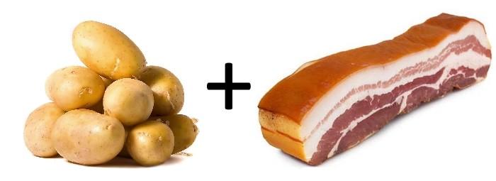 Картошка и сало