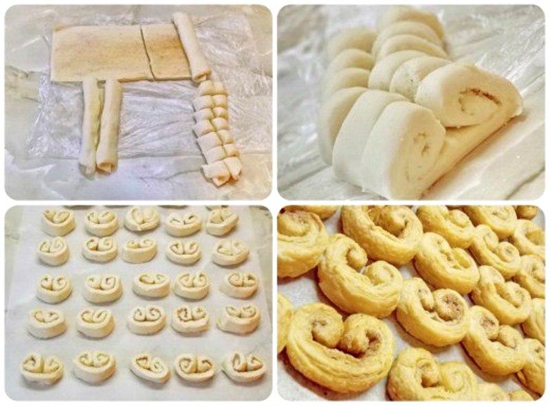 Печенье из слоеного теста завитушки