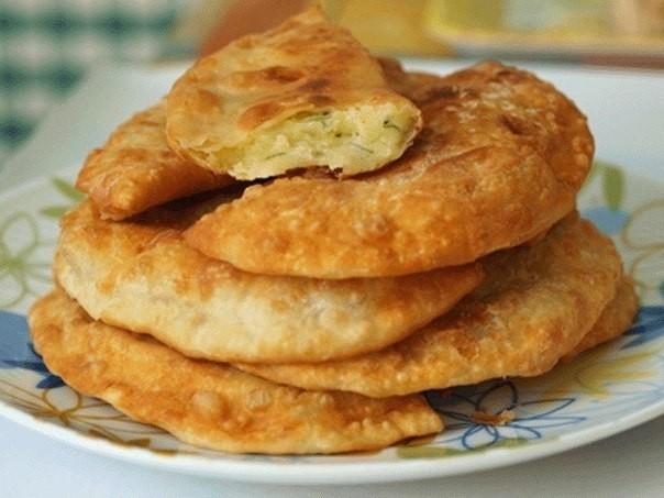 Чебуреки с картошкой — пошаговый рецепт