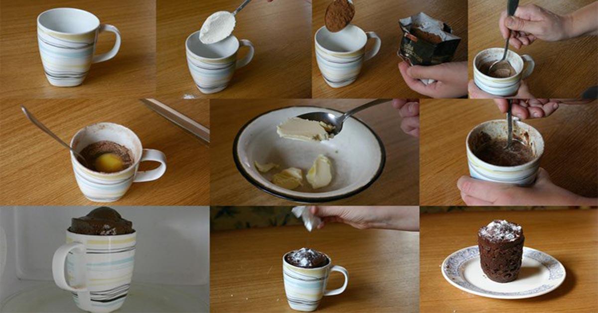 Рецепт кекса в кружке в микролновке