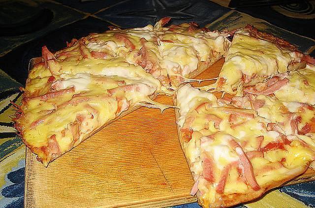 тесто для пиццы без дрожжей с майонезом без дрожжей