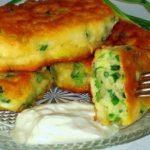 Пошаговый рецепт оладьев с зеленым луком