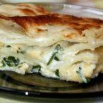 Сырный пирог из лаваша с творогом