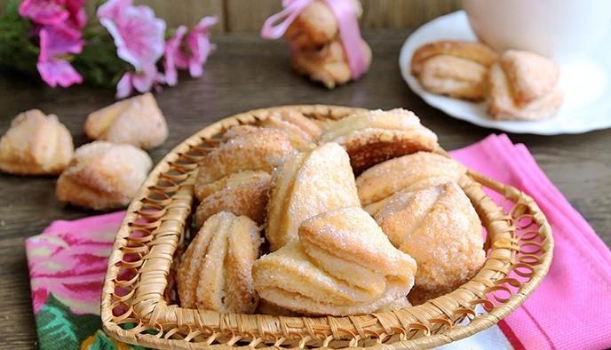 печенье - треугольники из творога