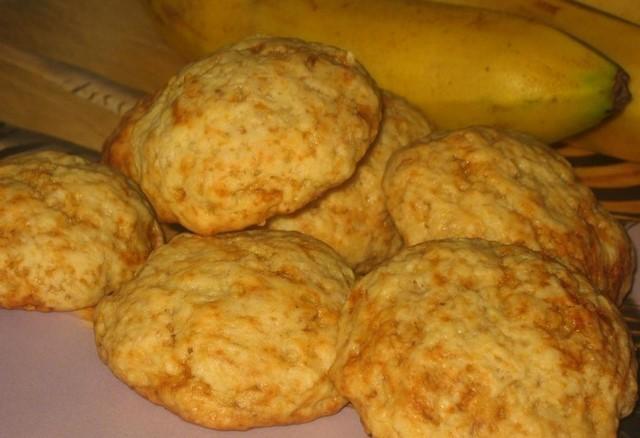 Рецепт песочного бананового печенья